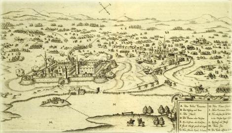 Asediul cetăţii Timişoara, 1596 (Sibmacher, 1620, Nürnberg, Biblioteca Naţională Széchényi Budapesta)