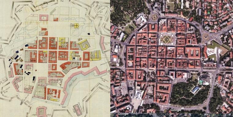 harta cetate 1758 prezent